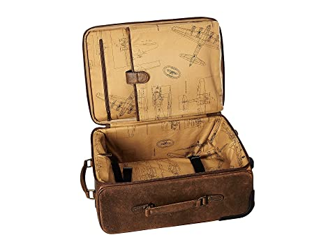 Squadron Brown Wheeled Carry Antique Scully On zXdqYdS