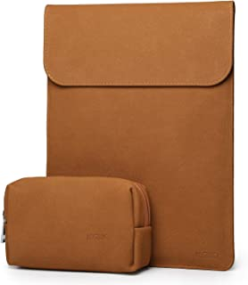 HYZUO 13 Inch Laptop Sleeve Case Compatible with 2019 2018 New MacBook Air 13 / MacBook Pro 13 2016-2019/12.9 New iPad Pro 2018 / Surface Pro 6 5 4 3 / Dell XPS 13 with Small Bag, Faux Suede Leather