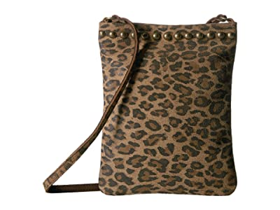Leatherock Davina Cell Pouch (Leopard Tan) Cross Body Handbags