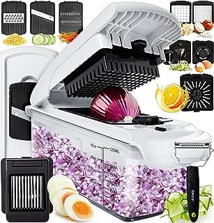 Fullstar Vegetable Chopper Dicer Mandoline Slicer - Food Chopper Vegetable Spiralizer Vegetable Slicer Peeler - Onion Chopper Salad Chopper Veggie Chopper Vegetable Cutter Food Slicer Egg Slicer