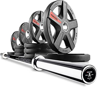 olympic bar rubber weight set