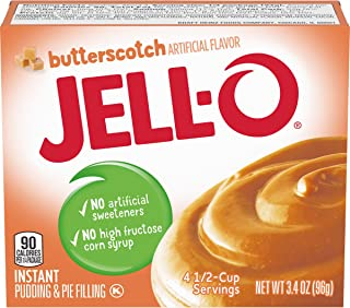 JELLO Instant Butterscotch Pudding Mix (3.4oz Boxes, Pack of 6)