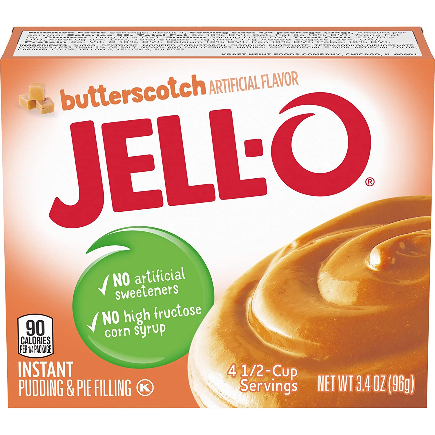 Jell-O Colorado Springs Mall Instant Butterscotch Pudding Pie 3.4 Filling oz Boxes 1 year warranty