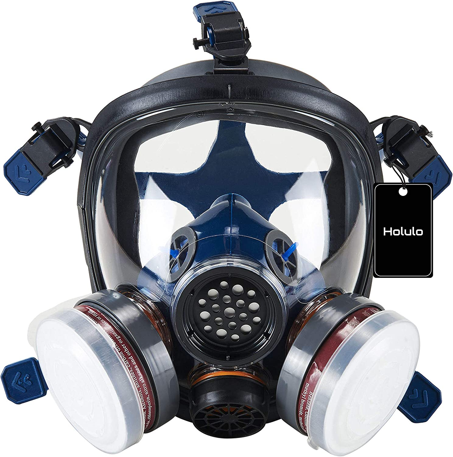 Holulo Full Face Large Size Department store Super sale period limited Field Wide Respirator of V