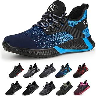 TQGOLD® Homme Femmes Chaussure de Securité S3 Chaussures de Travail avec Embout de Protection en Acier Chaussure