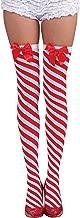 Forum Novelties Women's Candy Cane Thigh Highs