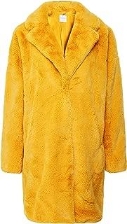 Rino and Pelle Women's Joela Faux Fur Coat Yellow
