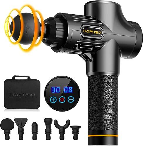 HOPOSO Massage Gun Deep Tissue,Electric Drill Muscle Massage Gun Massager for Relief Soreness and Stiffness,Handheld ...