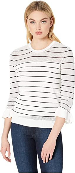 Liana Lightweight Striped Sweater