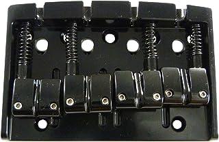 Gotoh 404B0-B - Puente bajo de 4 cuerdas, color: negro/cromo