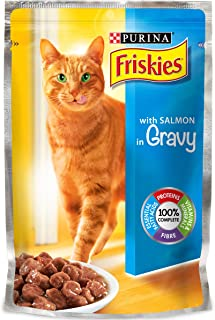 Purina Friskies with Salmon in Gravey Cat Food Single Serve Pouch, 100g