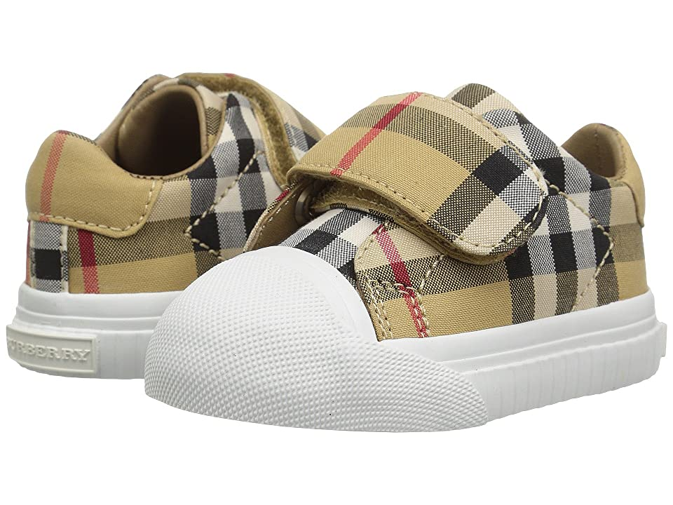 Burberry Kids Beech Check Trainer (Infant/Toddler) (Antique Yellow/Optic White) Kid
