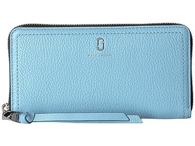 Marc Jacobs Standard Continental Wallet (Misty Blue) Wallet Handbags