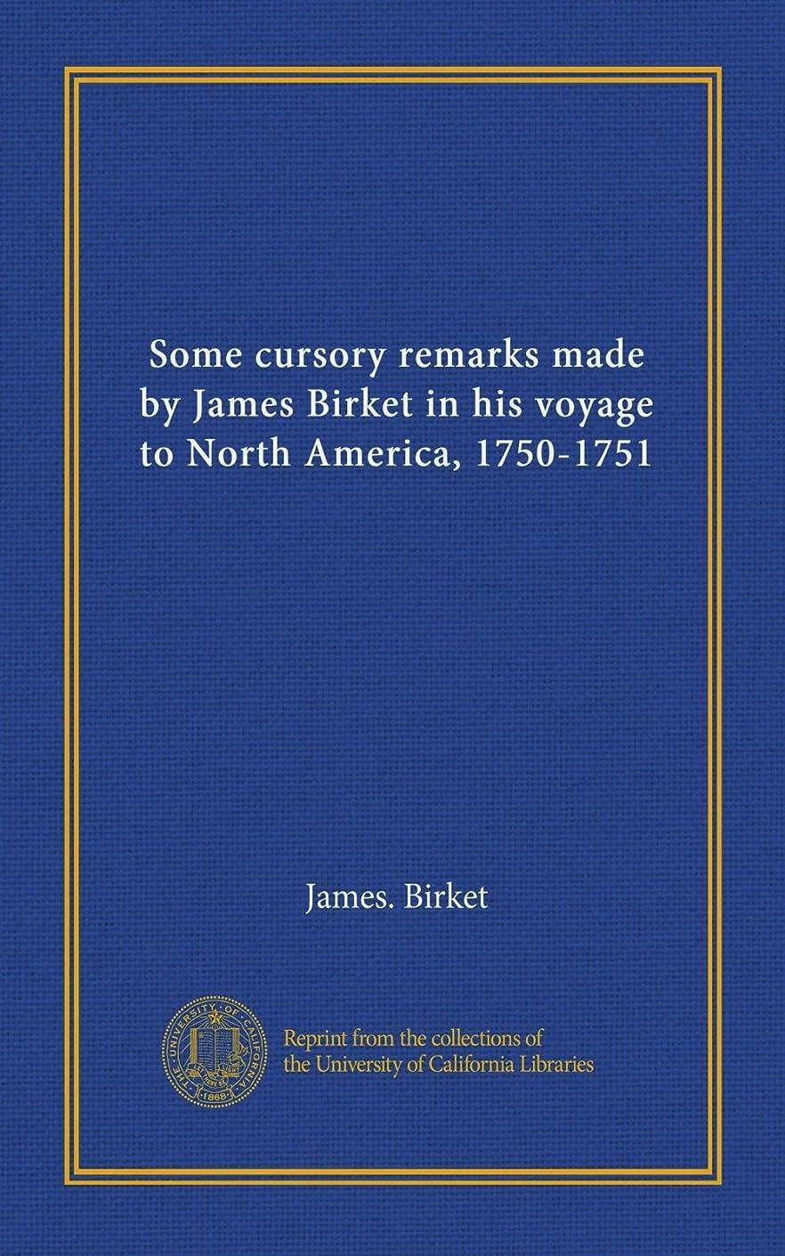 比較手つかずの温度計Some cursory remarks made by James Birket in his voyage to North America, 1750-1751