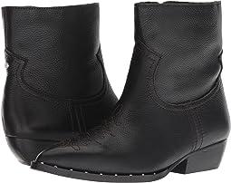 Black Tumbled Granada Leather