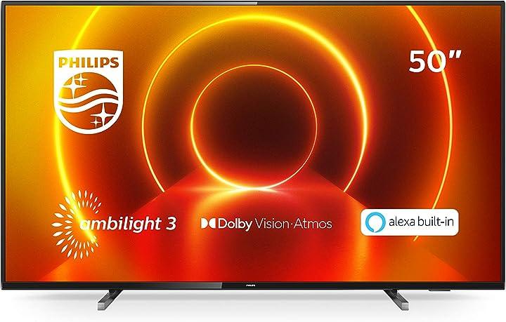 Tv led philips tv ambilight 50pus7805/12 50