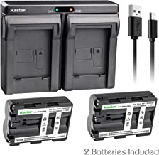 Kastar 2X Battery + USB Dual Charger for Sony NP-FM500H Sony Alpha SLT A58 A57 A65 A77 A99 A77V A77II DSLR-A100 A200 A300 A350 A450 A500 A550 A700 A850 A900 Alpha a99 II DSLR a100 a560 a580 a58 a77II