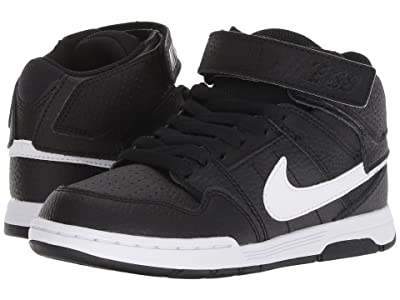 Nike Kids Mogan Mid 2 Jr (Little Kid/Big Kid) (Black/White) Boys Shoes