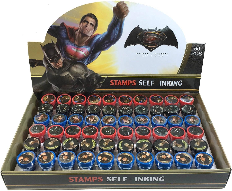 alto descuento Batman vs súperman súperman súperman Self-inking Stamps Birthday Party Favors 60 Pieces (Complete Box) by Marvel