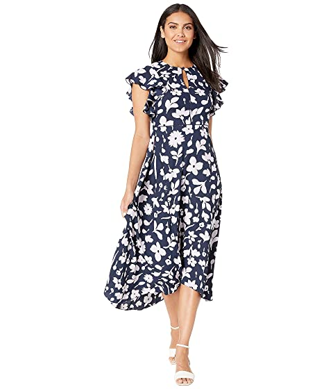 Kate Spade New York Splash Flutter Sleeve Dress