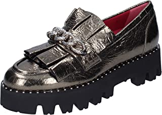 181 Moccasins Womens Leather Grey