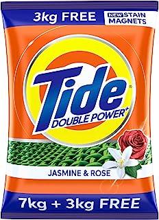 Tide Plus Double Power Detergent Washing Powder Jasmine & Rose 7kg + 3kg FREE