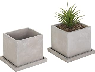 square cement planter