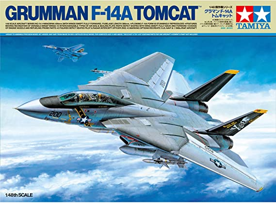 TAMIYA America, Inc 1/48 Grumman F-14A Tomcat, TAM61114