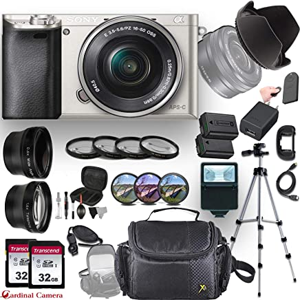 $549 Get Sony Alpha a6000 (Silver) E-Mount Mirrorless Camera with E 16–50mm f/3.5–5.6 OSS Lens + Professional Accessory-Kit Bundle
