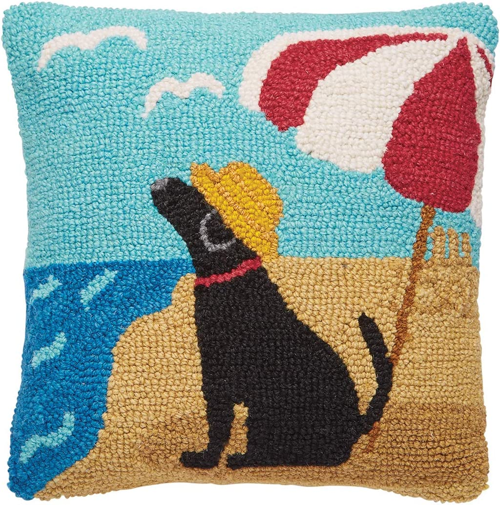 wholesale Free shipping Mud Pie Beach Dog Hook Wool Accent Decorative 12