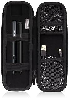 MoKo Holder Case Fit Apple Pencil/Apple Pencil 2, PU Leather Case for Samsung Stylus Pen Surface Pen, Fit iPad 10.2 2...