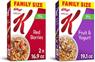 Kellogg's Special K Breakfast Cereal - Variety Pack, 2-Red Berries and 1- Fruit and Yogurt (Pack of 3)