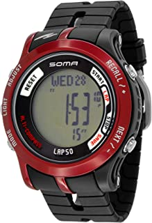 Soma Unisex Outdoor Alti-Compass Watch Black/Red #DWJ81-0003