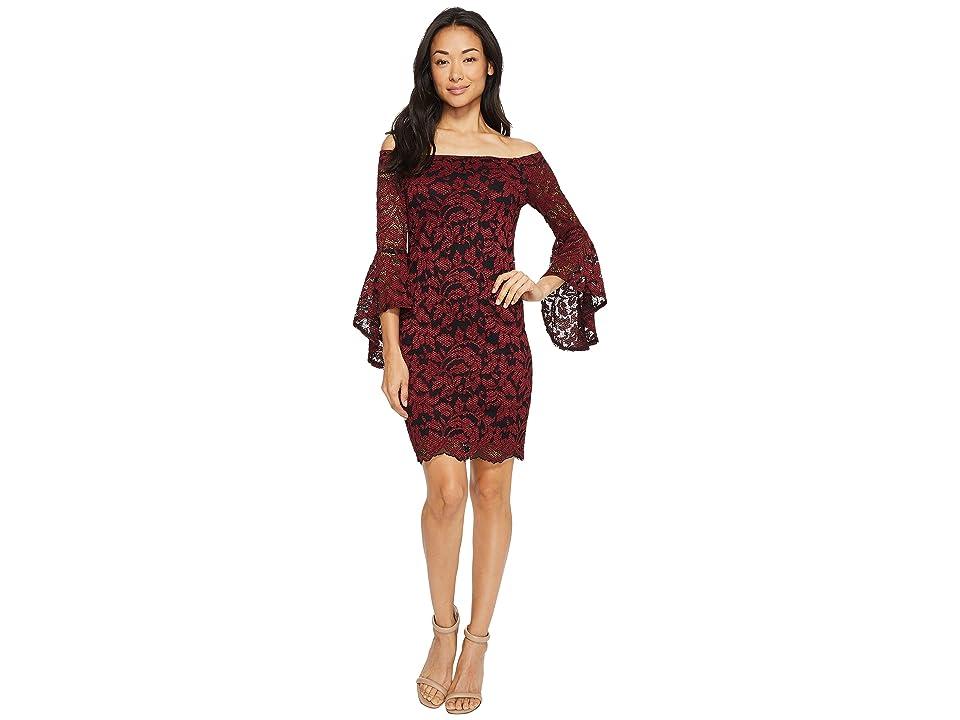 Karen Kane Samantha Lace Dress (Wine) Women