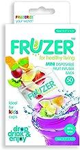 FRUZER Mini Disposable Fruit Infuser Bags, Clear, 50Ct Mini
