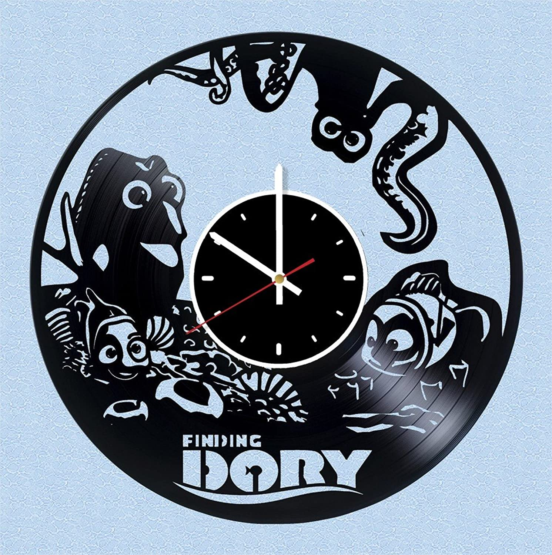 Finding Dory Vinyl Wall Clock Walt Disney Great Gift Men, Women, Kids, Girls Boys, Birthday, Christmas Beautiful Home Decor - Unique Design That Made Out Vinyl LP Record