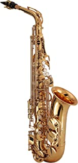 Kaizer Alto Saxophone E Flat Eb Intermediate Gold Lacquer Includes Case Mouthpiece and Accessories ASAX-3000LQ