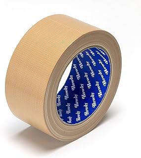 ストリックスデザイン ガムテープ 布粘着テープ 日本製 茶 25m巻 幅5cm 梱包用 手で切れる 文字が書ける 重ね貼り可 HD-338I