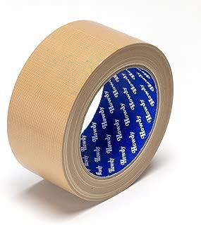 ストリックスデザイン 日本製 布粘着テープ ブラウン 5cm×25m 梱包用 手で切れる 文字が書ける HD-338