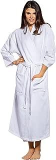 100% Turkish Cotton White Waffle Kimono Unisex Spa Robe