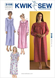 Kwik Sew K3106 Nightgowns Sewing Pattern, Size XS-S-M-L-XL