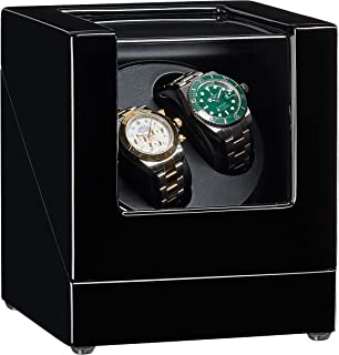 Sepano Double Watch Winder,Wooden Automatic Watch Winder Box for 2 Watches - Watch Display Case with Mabuchi Motor and Dual Power Supply