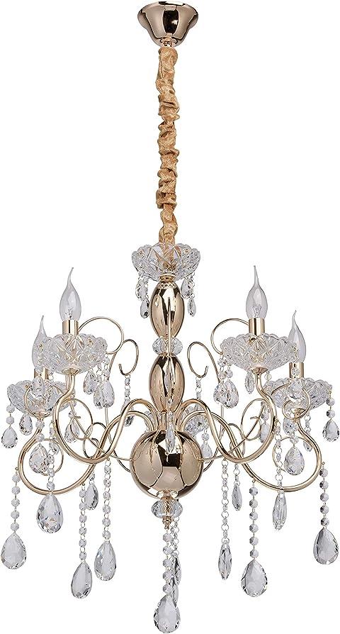 Mw-light lampadario da soffitto barocco antico in metallo 373011205
