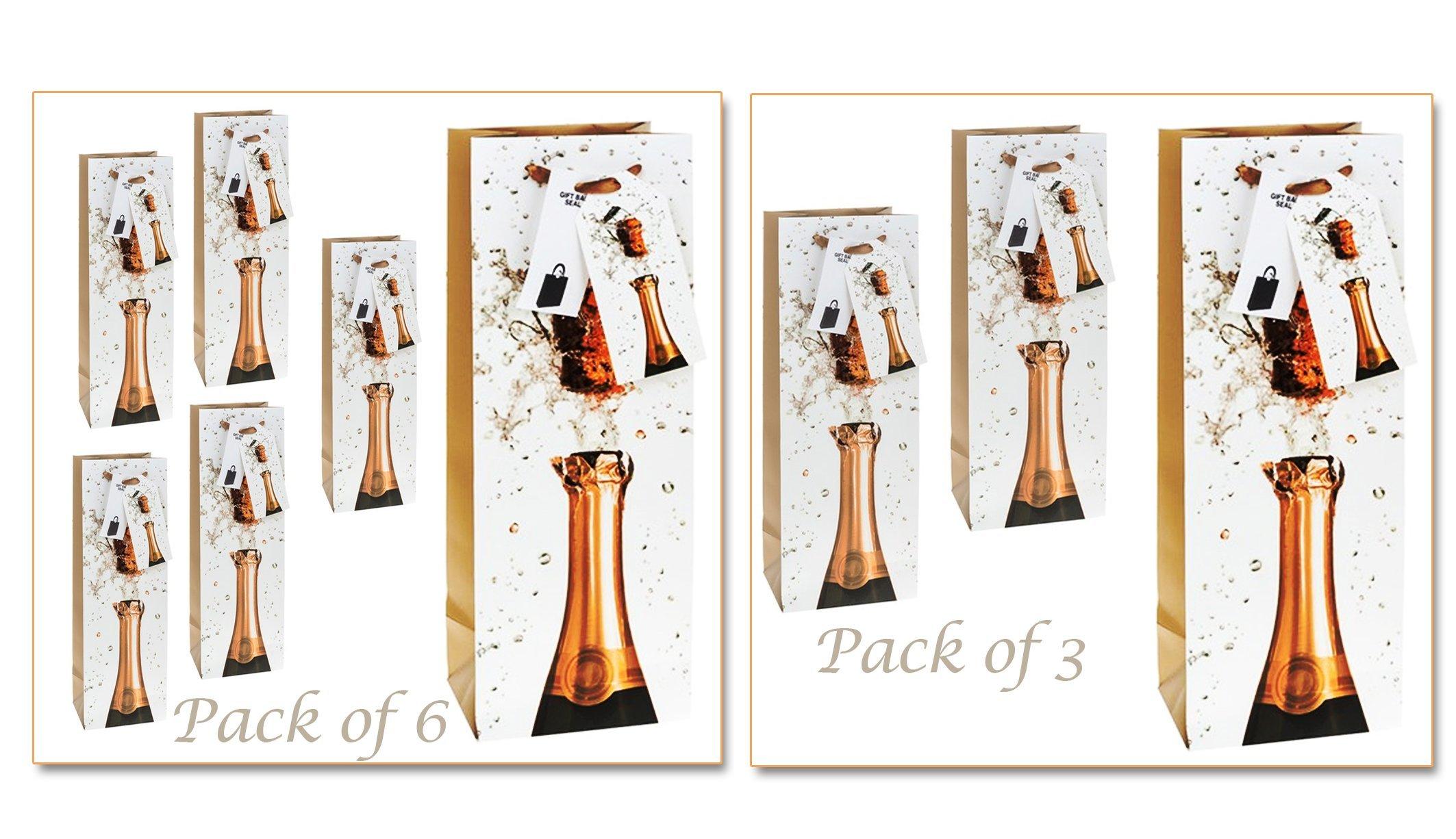 Pack de champán o cava botella bolsas de regalo, cream, beige ...