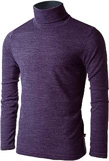 Nyfashioncity Mens Turtleneck Pullover Sweater Long Sleeve Slim Fit Shirts