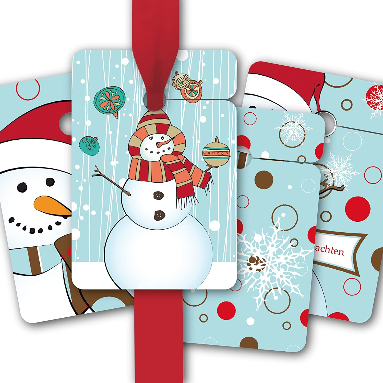 Weihnachts Geschenk Anhänger   Papieranhänger   Geschenk Karten (80Stk) zu Weihnachten mit modernen Schneemännern  Frohe Weihnachten B012OPSJSI    Verrückter Preis