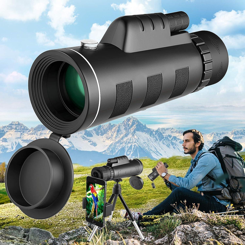 Necesa Monocular Telescope 40x60 Genuine Charlotte Mall Monoculars Smartphone BAK4 for