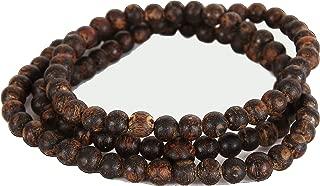Agarwood Bracelet |Natural Oud Beads | Organic agarwood Bracelet | 108 Beads mala | Yoga Meditation Beads | Agarwood Meditation Beads | Bhudist Prayer Beads | Elastic Chord