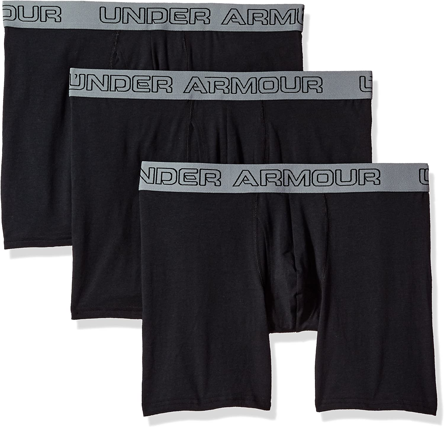 """Under Armour Men's Charged Cotton Stretch 6"""" Boxerjock - 3-Pack: Clothing"""