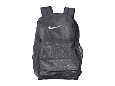 Nike Brasilia Mesh Backpack 9.0 (Flint Grey/Flint Grey/White) Backpack Bags